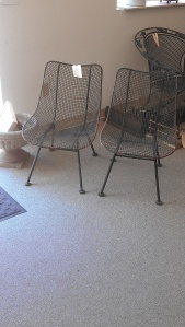 I think these chairs would look great inside in a living room or outside on a porch or deck!!!