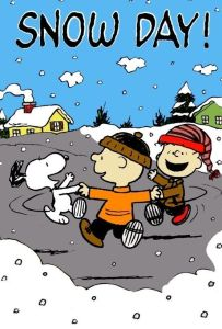 Peanuts snow day