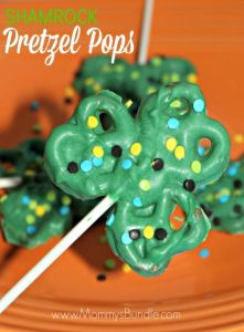 St Patricks Day pretzel pops