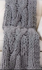 cable knit throw from Ethan Allen