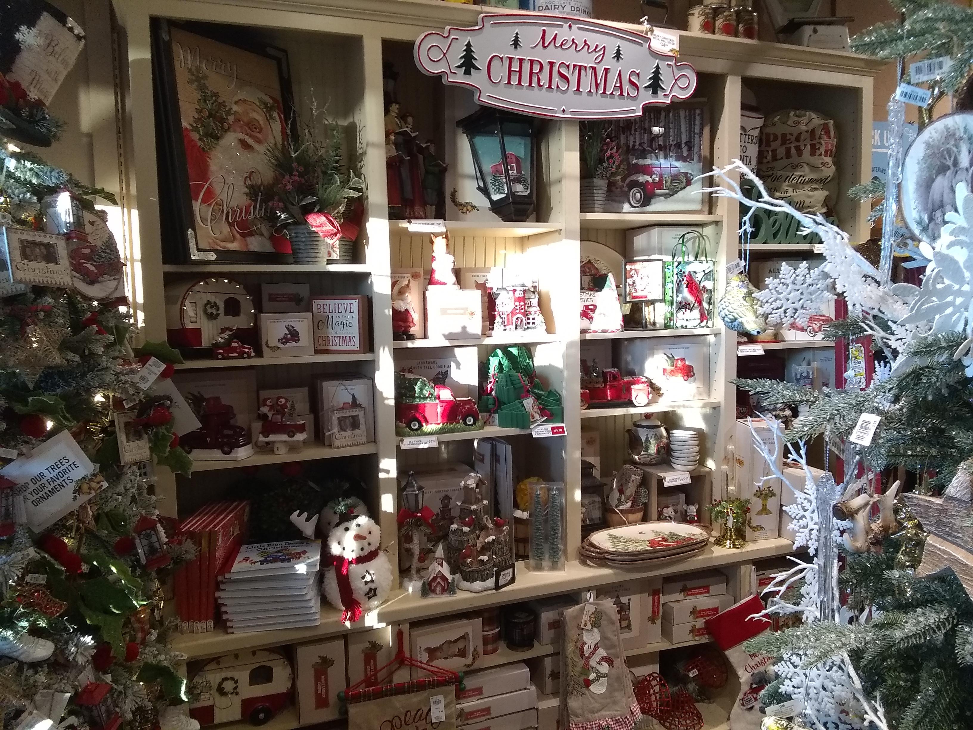cb Christmas display