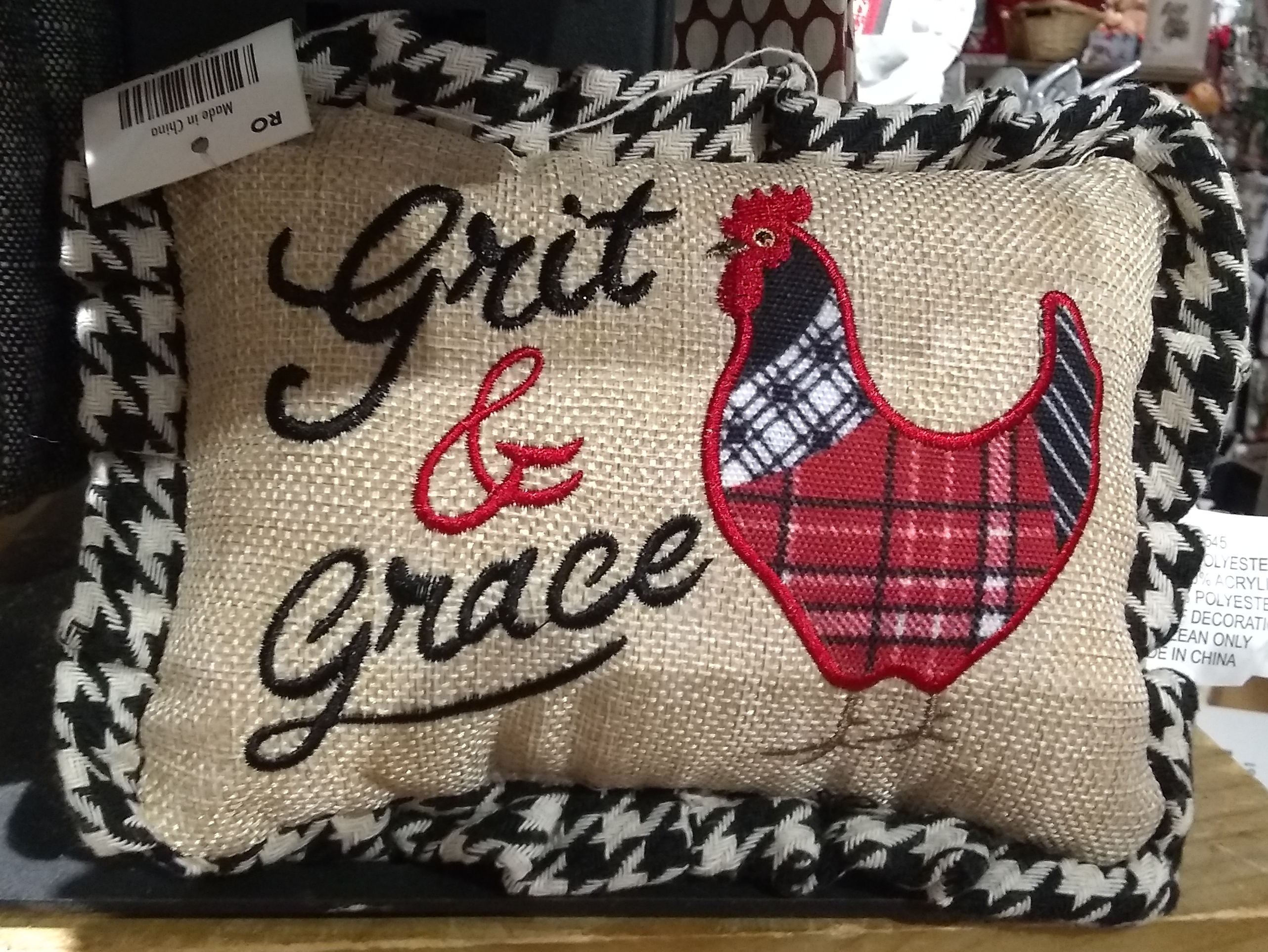 CB grit and grace pillow