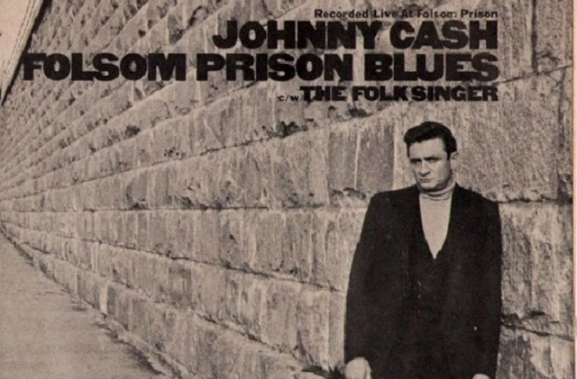 "Johnny Cash ""Folsom Prison Blues"" 7 inch Album Cover"