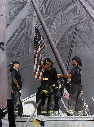 09-11-01-Raising-the-flag-oil-painting