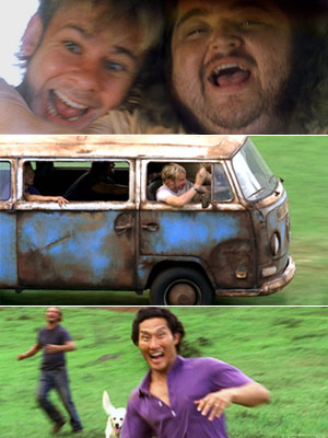 Lost van scene